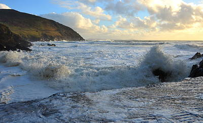 Photograph - Coumeenole Beach Is Getting A White Wash by Barbara Walsh
