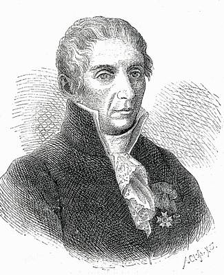 Count Alessandro Volta 1745 To 1827 Print by Vintage Design Pics