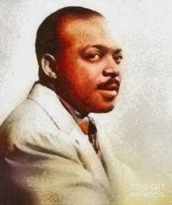 Music Paintings - Count Basie, Music Legend by Esoterica Art Agency