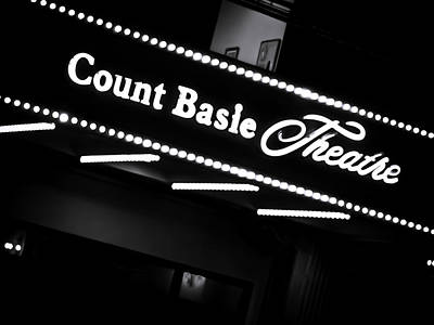 Photograph - Count Basie Theatre In Lights by Colleen Kammerer