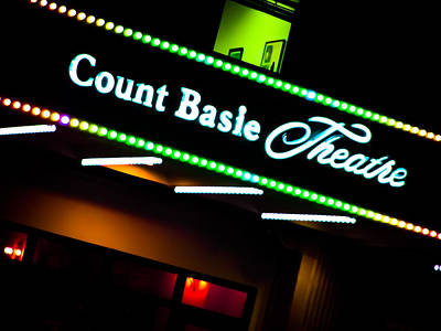 Photograph - Count Basie Theatre Lights In Color by Colleen Kammerer