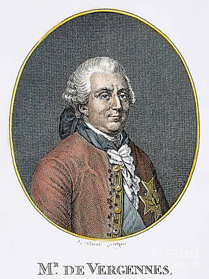 Count De Vergennes (1717-1787). Charles Gravier, Comte De Vergennes, French Statesman And Diplomat.  Steel Engraving, 19th Century Art Print