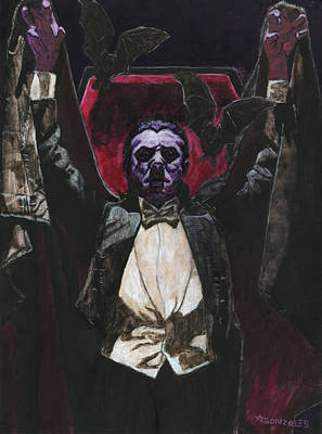 Horror Movies Painting - Count Dracula 1931 Bela Lugosi by Aljohn Gonzales