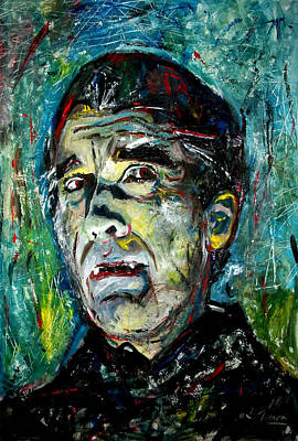 Universal Monsters Painting - Count Dracula - Christopher Lee by Marcelo Neira