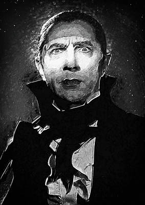 Haunted Digital Art - Count Dracula by Taylan Apukovska