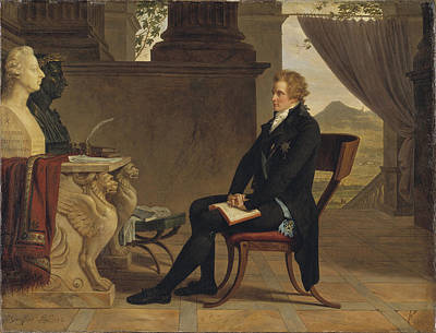 Louis Gauffier Painting - Count Gustaf Mauritz Armfelt In Florence by Louis Gauffier