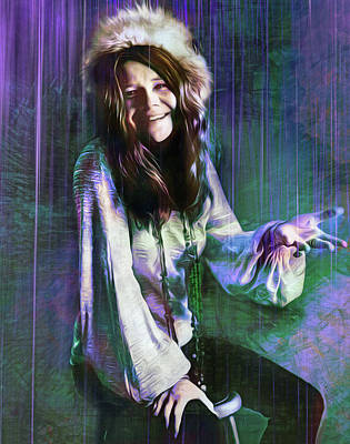 Wall Art - Mixed Media - Count Those Raindrops Janis by Mal Bray