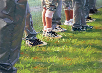 Baseball Painting - Counttime At The Field by Christopher Reid