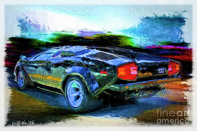 Photograph - Countach 5000 by Tom Griffithe