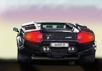 Painting - Countach by Pat Godfrey