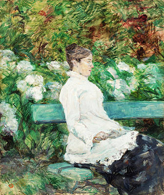Adele Wall Art - Painting - Countess Adele Of Toulouse-lautrec In The Garden Of Malrome by Henri de Toulouse-Lautrec