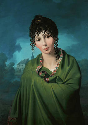 Shawl Painting - Countess Luise Von Voss by Mountain Dreams