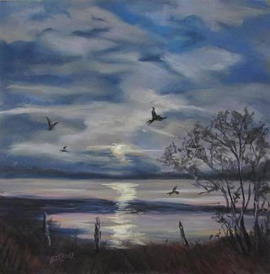 Pastel - Counting Crows by Barbara O'Toole