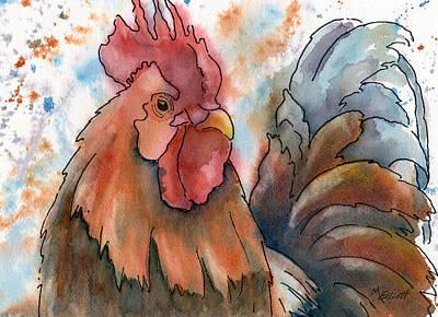Country Alarm Clock Art Print by Marsha Elliott