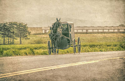 Photograph - Country Amish Ride  by Dyle Warren