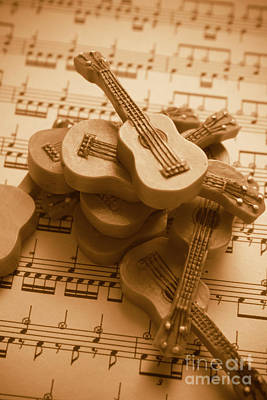 Classical Music Wall Art - Photograph - Country And Western Guitars. Music Education by Jorgo Photography - Wall Art Gallery