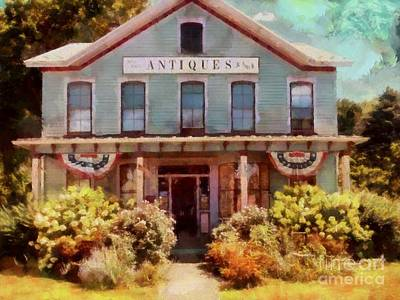 Photograph - Country Antiques Store - Hawley Pa by Janine Riley