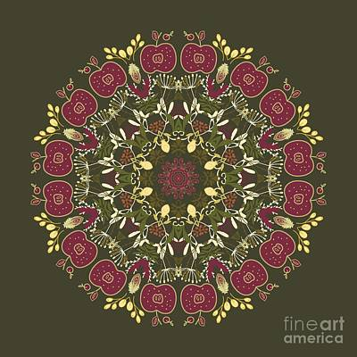 Photograph - Country Apple Kaleidoscope Pattern by Mary Machare