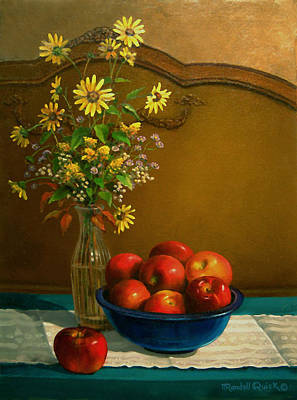 Randall Quick Painting - Country Apples by Randall R Quick