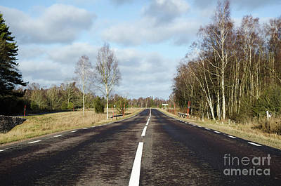 Photograph - Country Asphalt Road by Kennerth and Birgitta Kullman