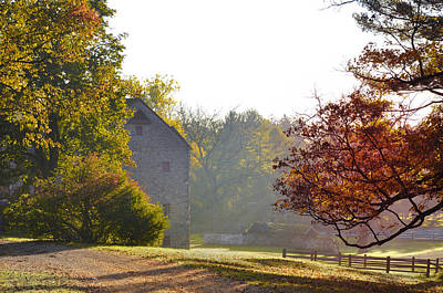 Barns Digital Art - Country Autumn by Bill Cannon