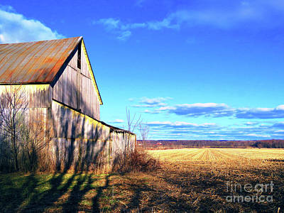 Photograph - Country Barn by Debbie Parker
