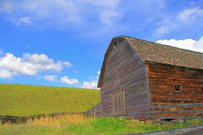 Photograph - Country Barn by Kathy Bassett