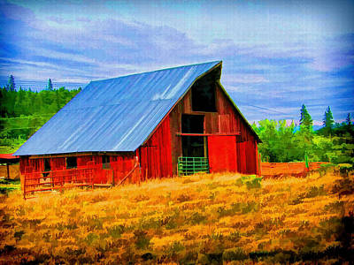 Photograph - Country Barn Painting by Wendy McKennon