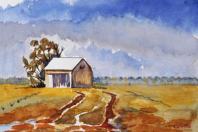 Ruben Carrillo Wall Art - Painting - Country Barn by Ruben Carrillo