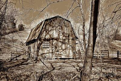 Wood Pallet Flag Photograph - Country Barn S by John Myers