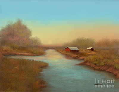 Painting - Country Barns by Sena Wilson