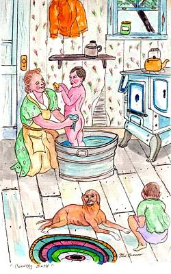Country Bath Art Print