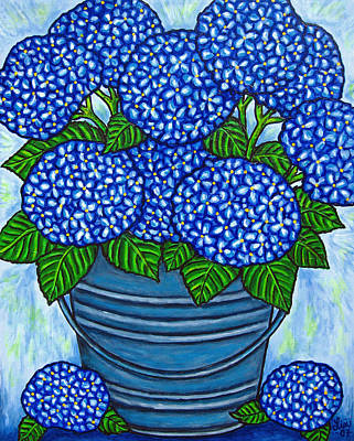 Country Blues Art Print by Lisa  Lorenz