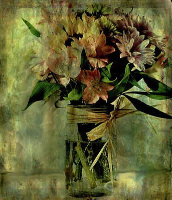 Digital Art - Country Boquet by Janet Duffey