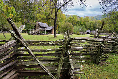 Photograph - Country Cabin And Fence by Tim Stanley