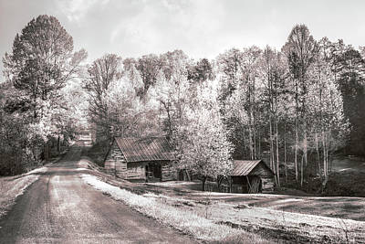 Photograph - Country Charm In Sepia by Debra and Dave Vanderlaan