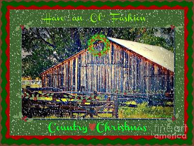 Photograph - Country Christmas by Bobbee Rickard