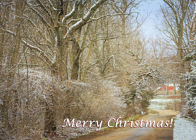 Photograph - Country Christmas Card by Joni Eskridge