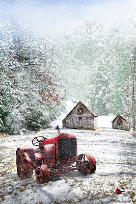 Photograph - Country Christmas by Debra and Dave Vanderlaan
