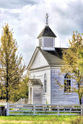 Country Church Painting - Country Church At Old World Wisconsin by Christopher Arndt