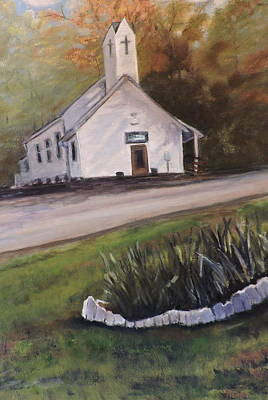 Painting - Country Church by Betty Pimm