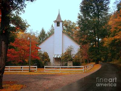 Art Print featuring the photograph Country Church by Brenda Bostic