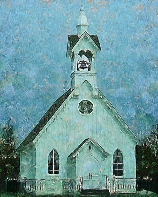 Digital Art - Country Church Digital Art by Ernie Echols