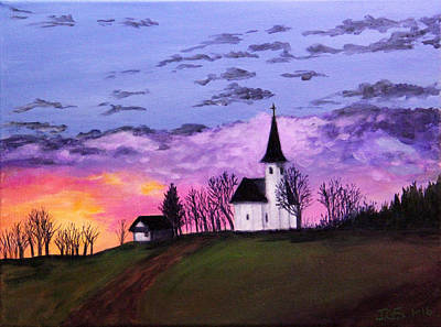 Painting - Country Church by Janet Greer Sammons