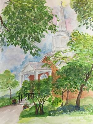 Painting - Country Church by Lucia Grilletto