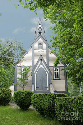 Country Church Art Print by Rod Wiens