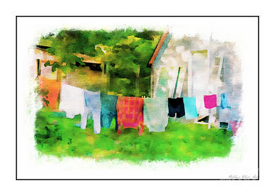 Photograph - Country Close Line - Digital Paint 4 by Debbie Portwood