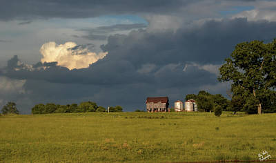 Photograph - Country Clouds by Ally White