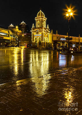Photograph - Country Club Plaza Reflections by Dennis Hedberg