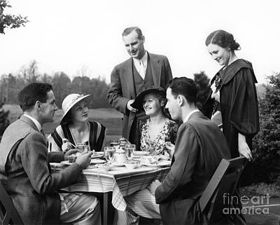 Friends Meet Up Photograph - Country Club Scene, C.1930s by H. Armstrong Roberts/ClassicStock